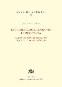 Cover Leggere i classici durante la Resistenza
