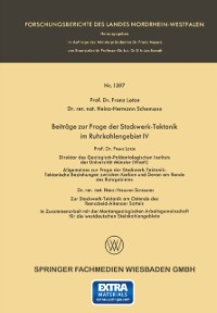 Cover Beitrage zur Frage der Stockwerk-Tektonik im Ruhrkohlengebiet IV