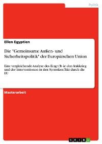 """Cover Die """"Gemeinsame Außen- und Sicherheitspolitik"""" der Europäischen Union"""