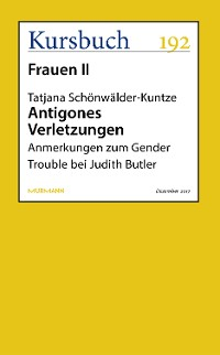 Cover Antigones Verletzungen