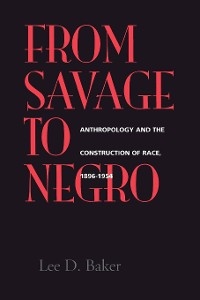 Cover From Savage to Negro