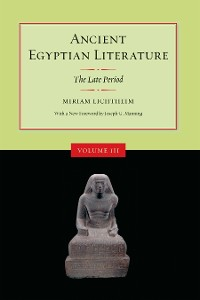 Cover Ancient Egyptian Literature, Volume III