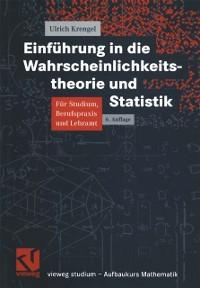 Cover Einfuhrung in die Wahrscheinlichkeitstheorie und Statistik