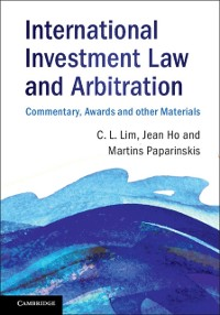 Cover International Investment Law and Arbitration