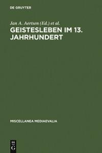 Cover Geistesleben im 13. Jahrhundert