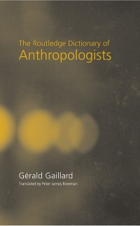Cover Routledge Dictionary of Anthropologists