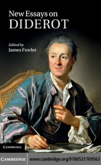 Cover New Essays on Diderot