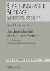 Cover Der deutsche Teil des Florianer Psalters