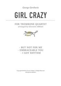 Cover George Gershwin Girl Crazy for Trombone Quartet