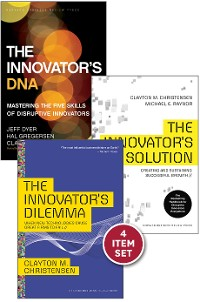 "Cover Disruptive Innovation: The Christensen Collection (The Innovator's Dilemma, The Innovator's Solution, The Innovator's DNA, and Harvard Business Review article ""How Will You Measure Your Life?"") (4 Items)"