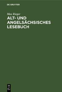 Cover Alt- und angelsächsisches Lesebuch