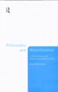 Cover Philosophy and Mystification