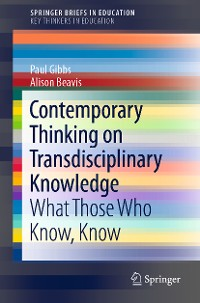 Cover Contemporary Thinking on Transdisciplinary Knowledge