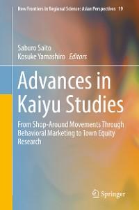 Cover Advances in Kaiyu Studies