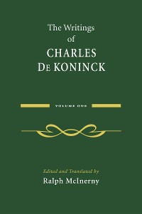 Cover The Writings of Charles De Koninck