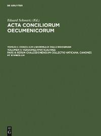 Cover Rerum Chalcedonensium collectio Vaticana. Canones et Symbolum