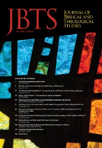 Cover Journal of Biblical and Theological Studies, Issue 5.1
