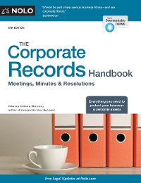 Cover Corporate Records Handbook, The