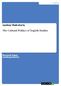 Cover The Cultural Politics of English Studies