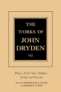 Cover The Works of John Dryden, Volume XIII