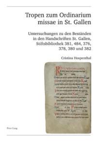 Cover Tropen zum Ordinarium missae in St. Gallen