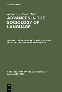 Cover Basic concepts, theories and problems: alternative approaches
