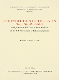 Cover The Evolution of the Latin /b/-/ṷ/ Merger