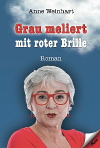 Cover Grau meliert mit roter Brille