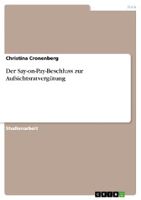 Cover Der Say-on-Pay Beschluss zur Aufsichtsratvergütung