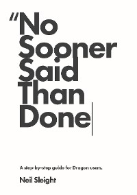 Cover No sooner said than done