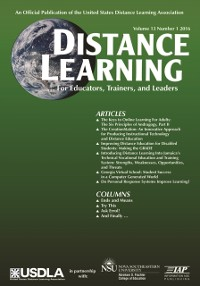Cover Distance Learning  Issue