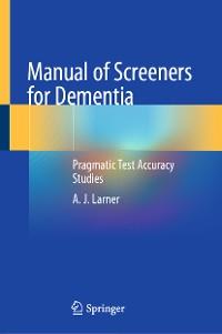 Cover Manual of Screeners for Dementia
