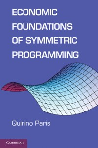 Cover Economic Foundations of Symmetric Programming
