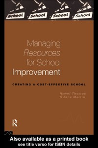 Cover Managing Resources for School Improvement