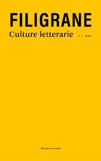 Cover FILIGRANE. Culture letterarie.