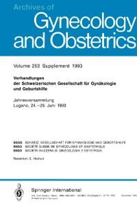 Cover Verhandlungen der Schweizerischen Gesellschaft fur Gynakologie und Geburtshilfe