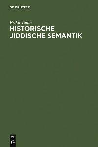 Cover Historische jiddische Semantik