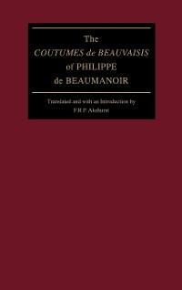 "Cover The ""Coutumes de Beauvaisis"" of Philippe de Beaumanoir"