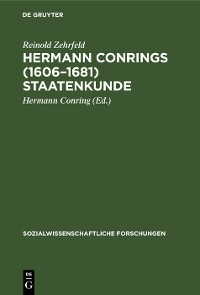 Cover Hermann Conrings (1606–1681) Staatenkunde