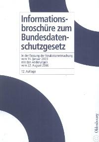 Cover Informationsbroschüre zum Bundesdatenschutzgesetz