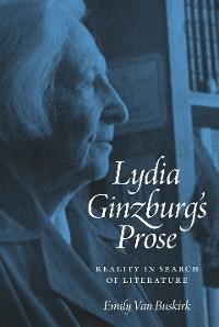 Cover Lydia Ginzburg's Prose