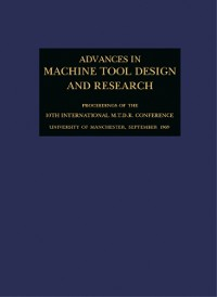 Cover Advances in Machine Tool Design and Research 1969