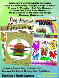 Cover Box Set Set Children's Books: Snake Picture Book - Frog Picture Book - Humor Unicorns - Funny Cat Book For Kids Dog Humor: 5 In 1 Box Set