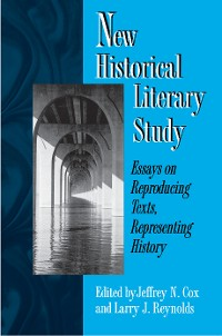 Cover New Historical Literary Study