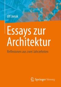 Cover Essays zur Architektur