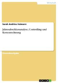 Cover Jahresabschlussanalyse, Controlling und Kostenrechnung