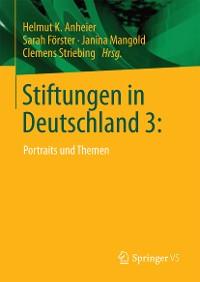 Cover Stiftungen in Deutschland 3: