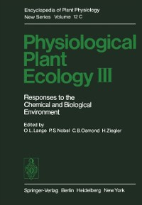 Cover Physiological Plant Ecology III