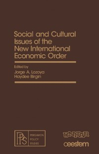 Cover Social and Cultural Issues of the New International Economic Order