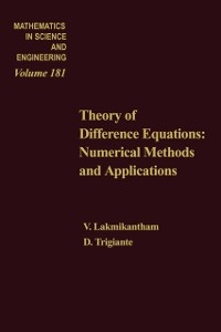 Cover Theory of Difference Equations Numerical Methods and Applications by V Lakshmikantham and D Trigiante